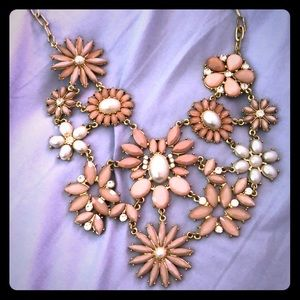 Gold, pink, and mauve statement piece